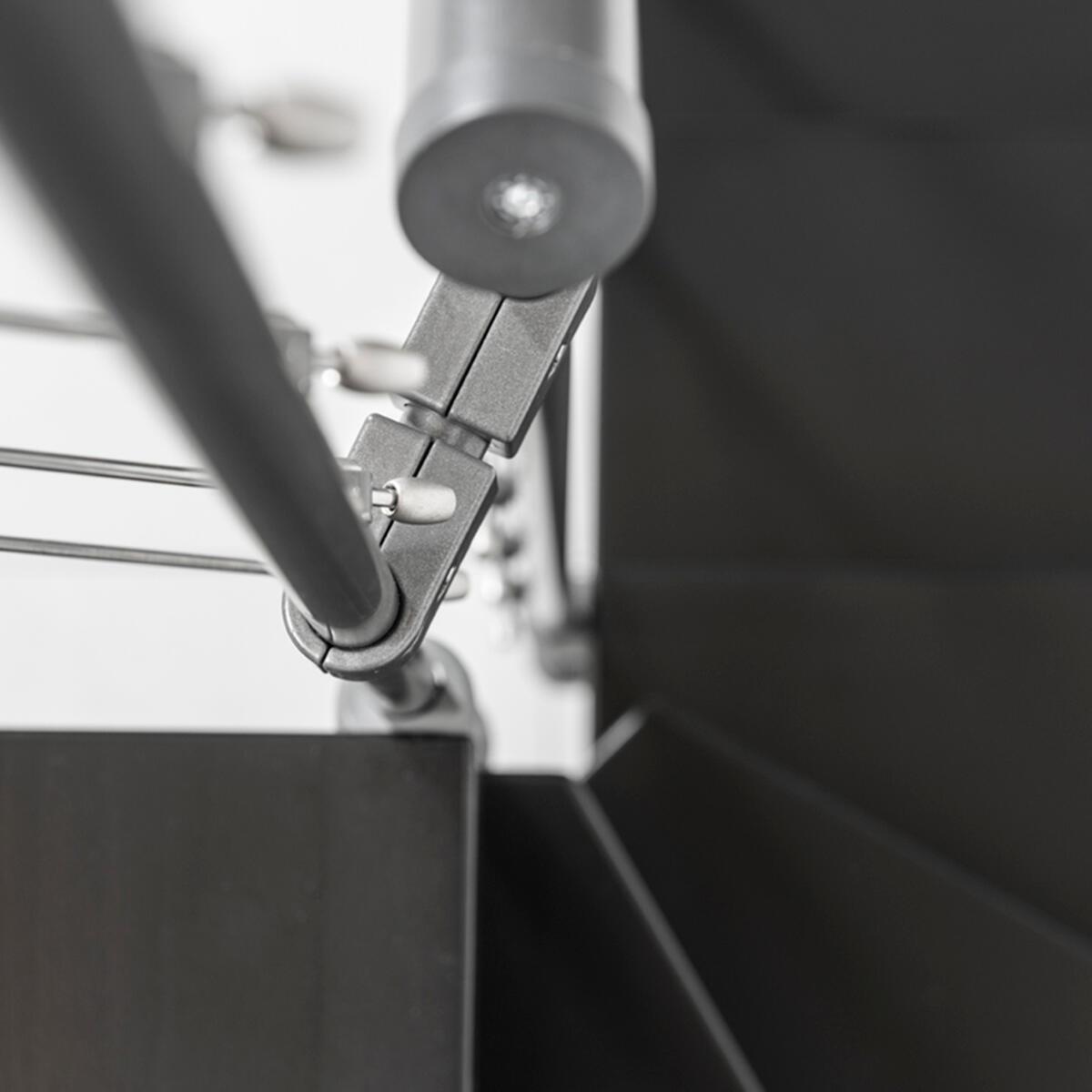 Scala a rampa 1/4 di giro Mas FONTANOT L 85 cm, gradino grigio antracite scuro, struttura antracite - 21