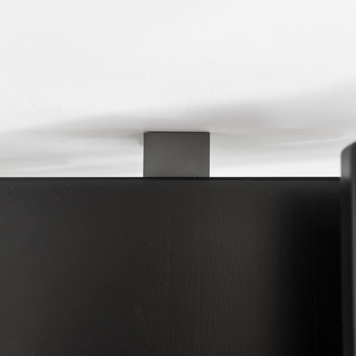 Scala a rampa 1/4 di giro Mas FONTANOT L 85 cm, gradino grigio antracite scuro, struttura antracite - 8