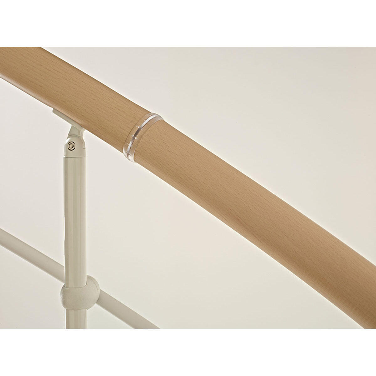 Scala a chiocciola tonda Inside FONTANOT L 140 cm, gradino naturale, struttura bianco - 6