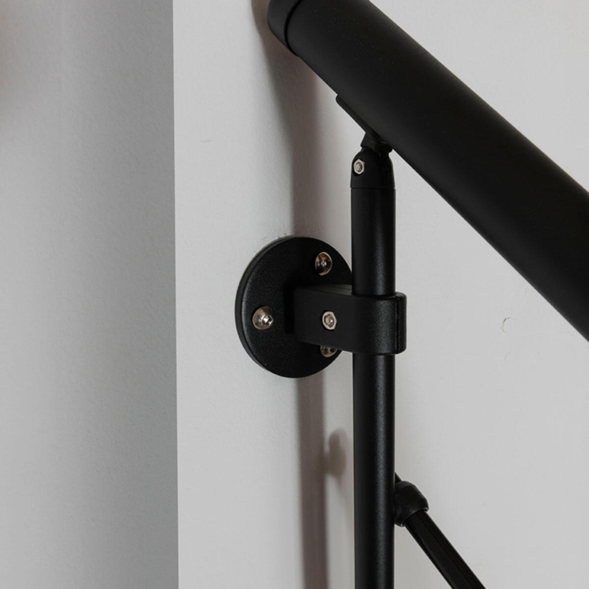 Scala a rampa 1/4 di giro Mas 050 PVC FONTANOT L 75 cm, gradino naturale, struttura nero - 8