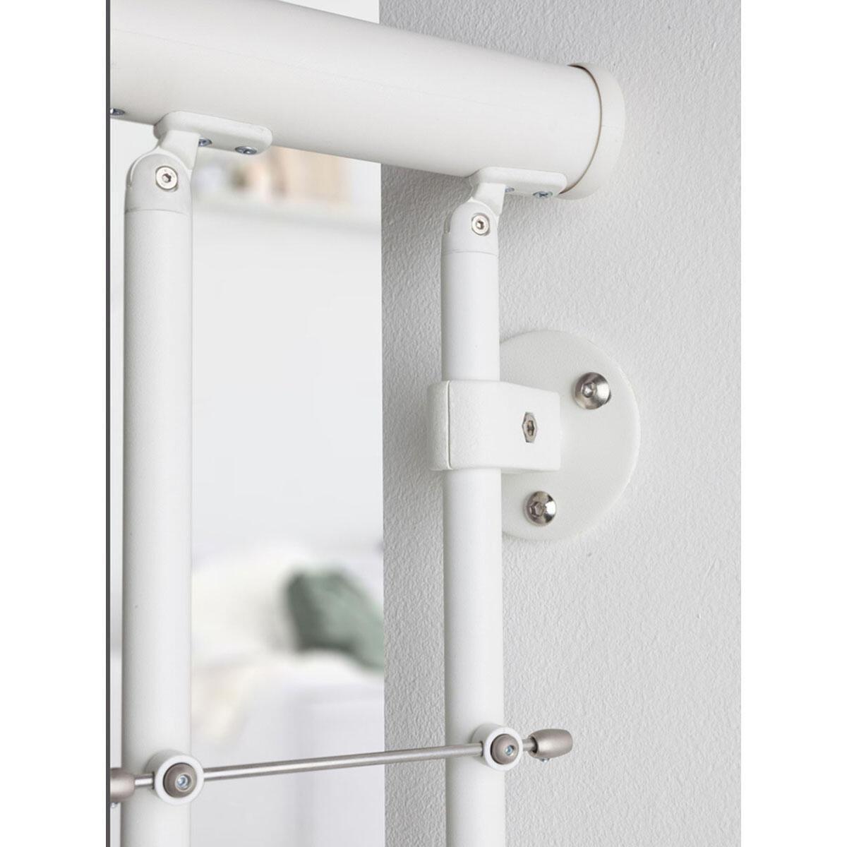 Scala a chiocciola tonda Gexi FONTANOT L 120 cm, gradino bianco, struttura bianco - 8