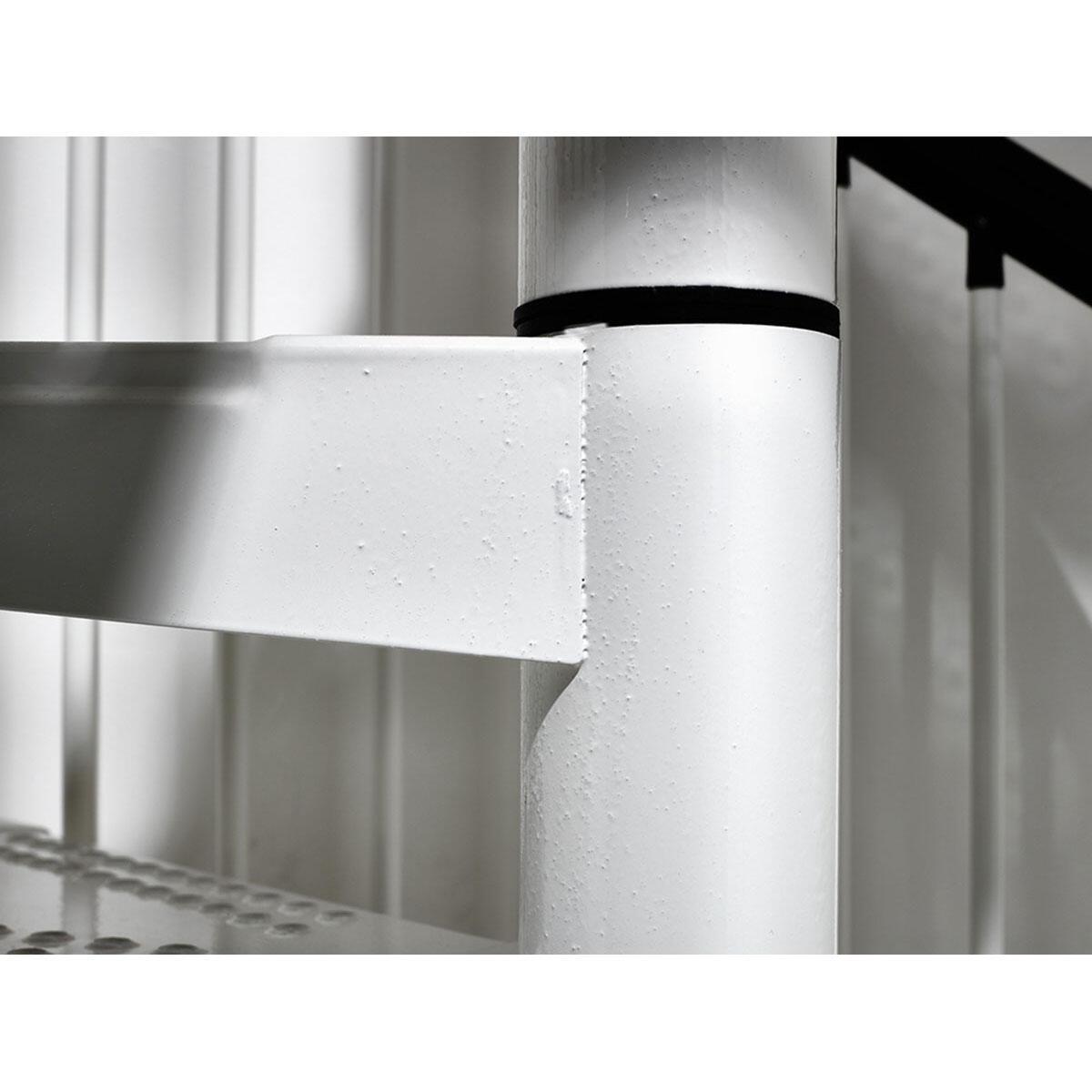 Scala a chiocciola tonda Lucia FONTANOT L 160 cm, gradino bianco, struttura bianco - 3