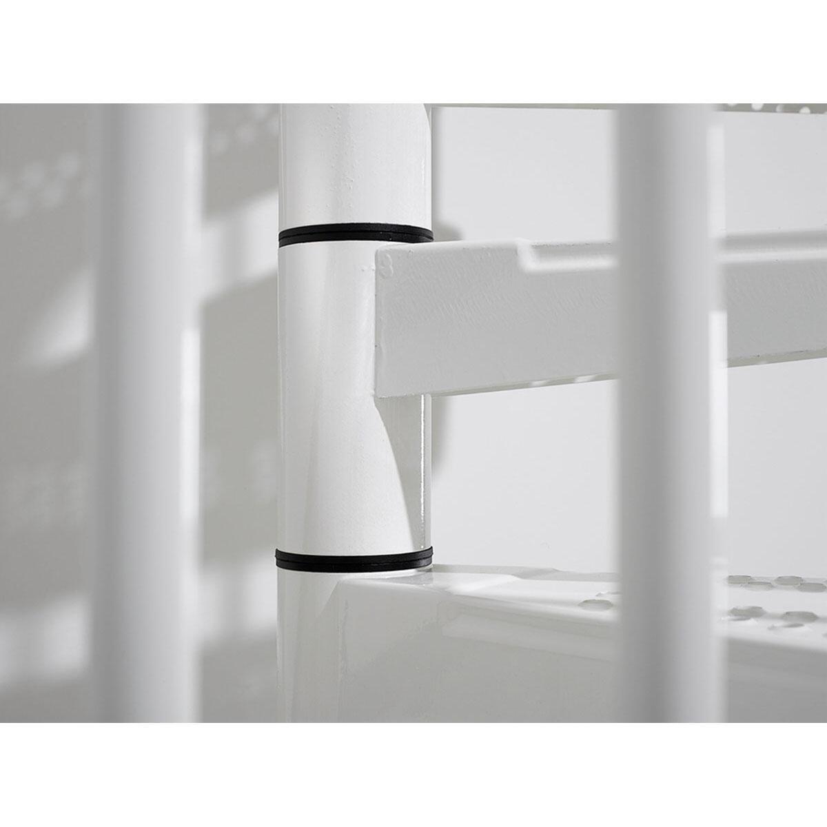 Scala a chiocciola tonda Lucia FONTANOT L 160 cm, gradino bianco, struttura bianco - 5
