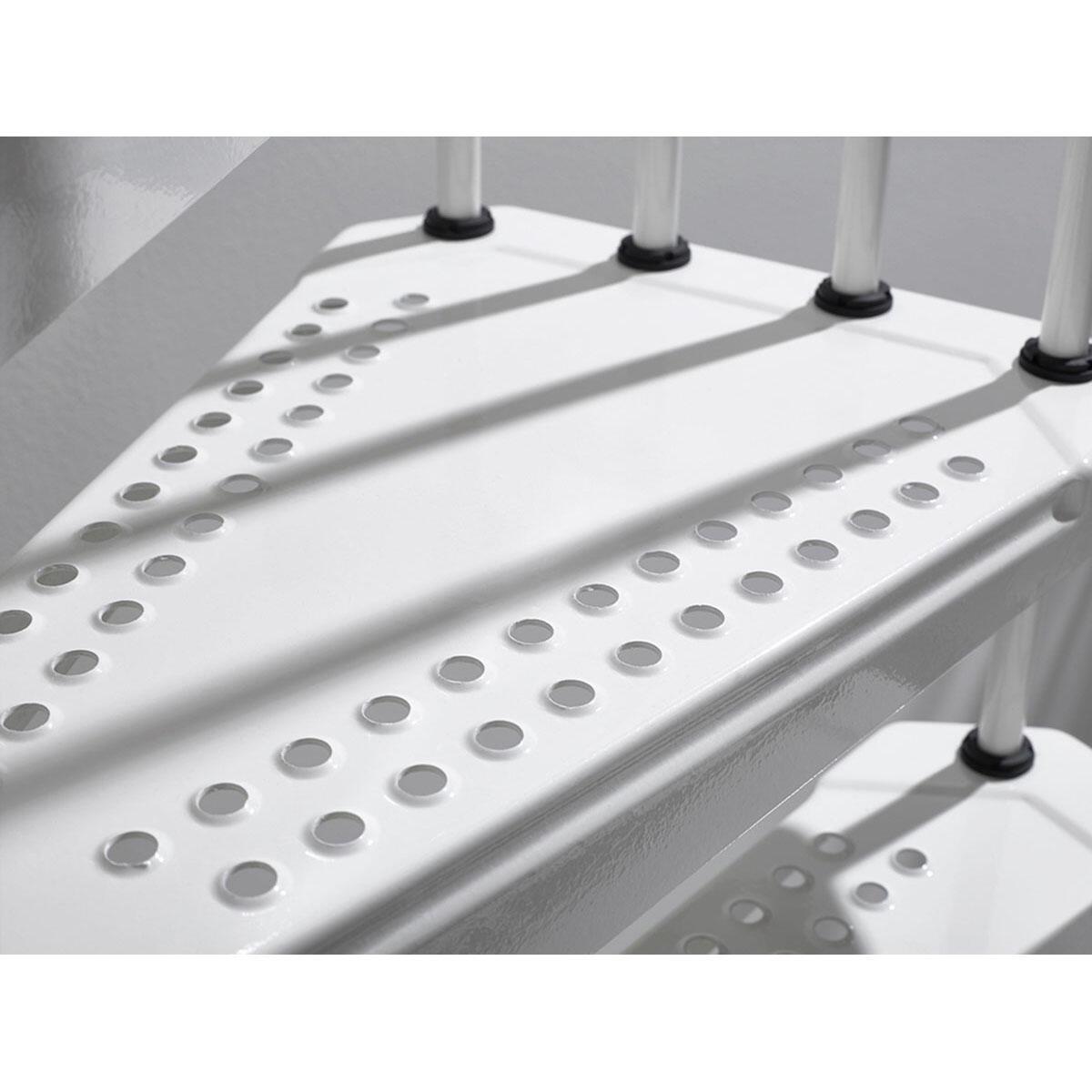 Scala a chiocciola tonda Lucia FONTANOT L 160 cm, gradino bianco, struttura bianco - 6