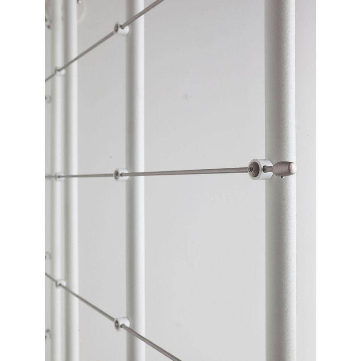 Scala a chiocciola tonda Gexi FONTANOT L 140 cm, gradino bianco, struttura bianco - 6