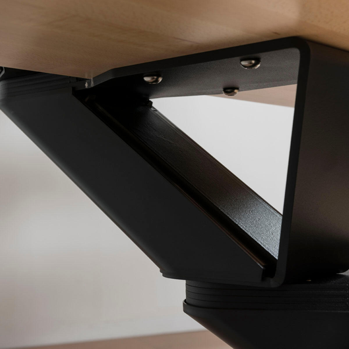 Scala a rampa 1/4 di giro Mas 050 PVC FONTANOT L 75 cm, gradino naturale, struttura nero - 3