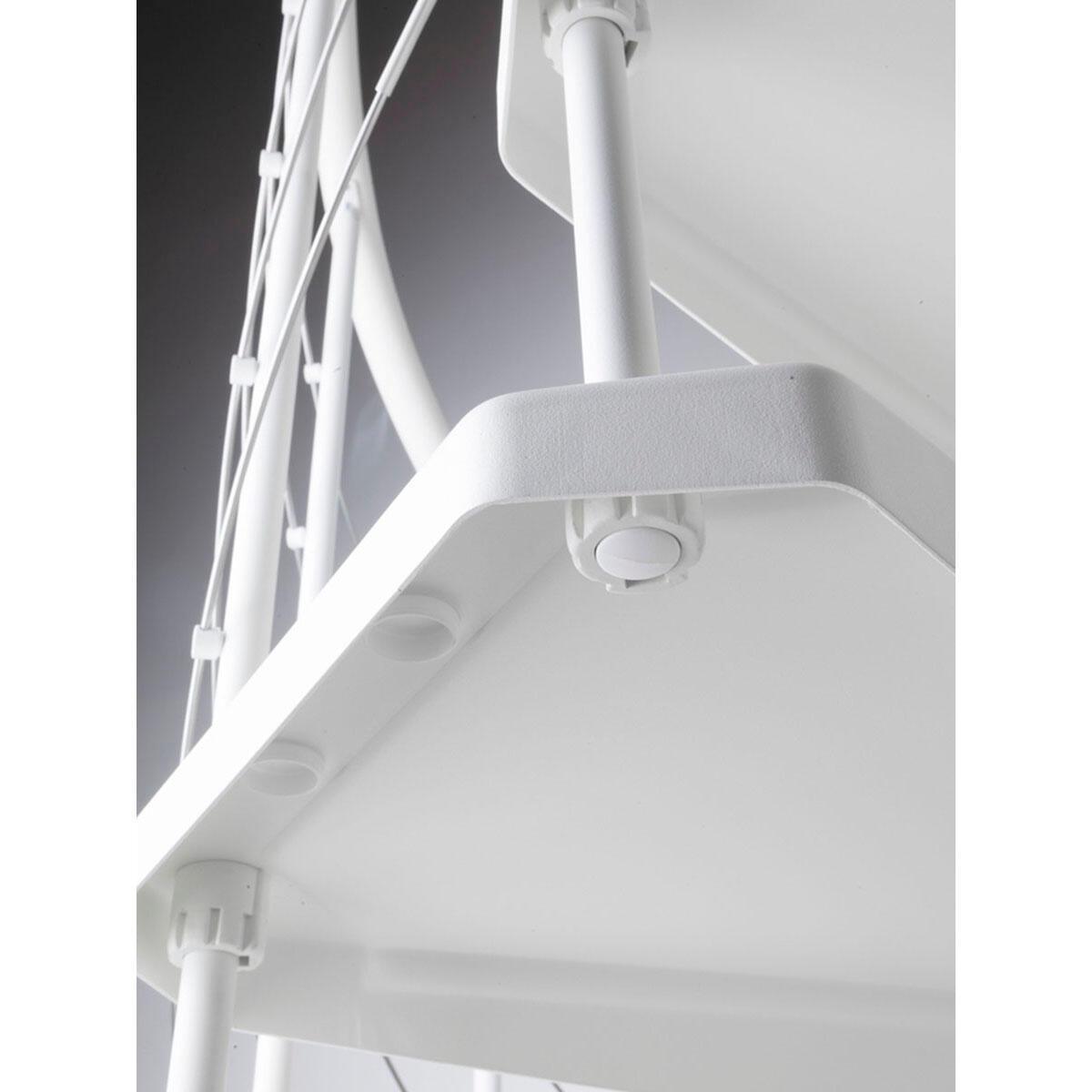 Scala a chiocciola tonda Gexi FONTANOT L 120 cm, gradino bianco, struttura bianco - 3