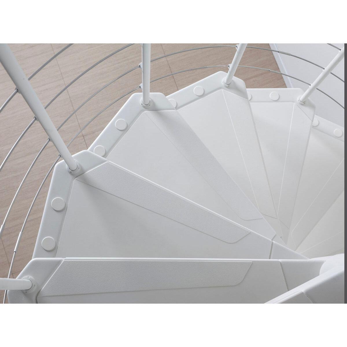Scala a chiocciola tonda Gexi FONTANOT L 160 cm, gradino bianco, struttura bianco - 5