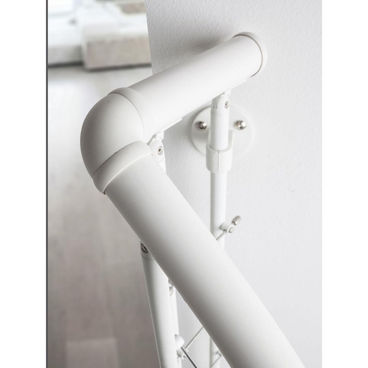 Scala a chiocciola tonda Gexi FONTANOT L 140 cm, gradino bianco, struttura bianco - 2