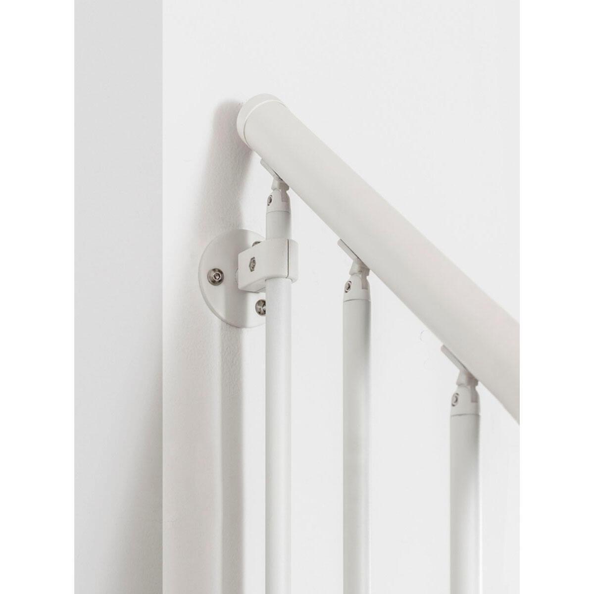 Scala a rampa 1/4 di giro Mas FONTANOT L 85 cm, gradino bianco, struttura bianco - 2