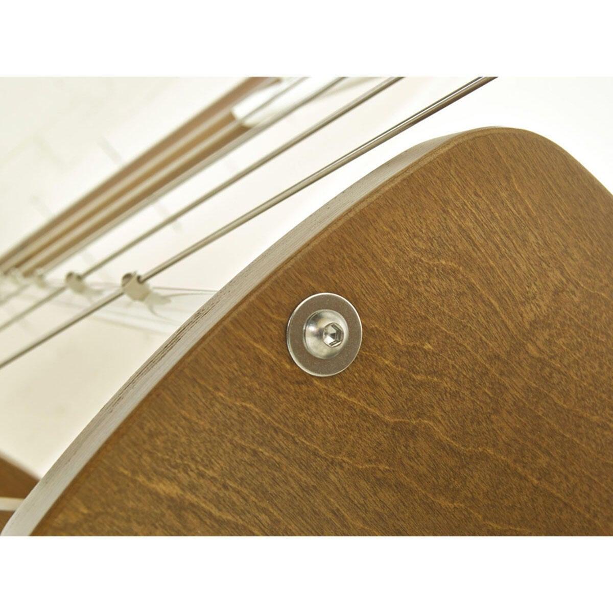 Scala salvaspazio dritto Zen FONTANOT L 59 cm, gradino betulla, struttura bianco - 5