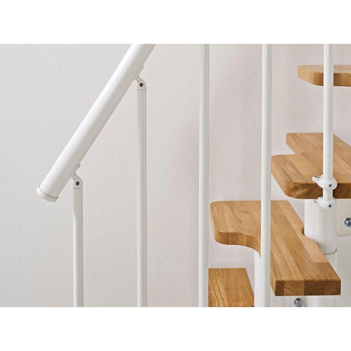 Scala salvaspazio dritto OAK30 FONTANOT L 54 cm, gradino rovere, struttura bianco - 6