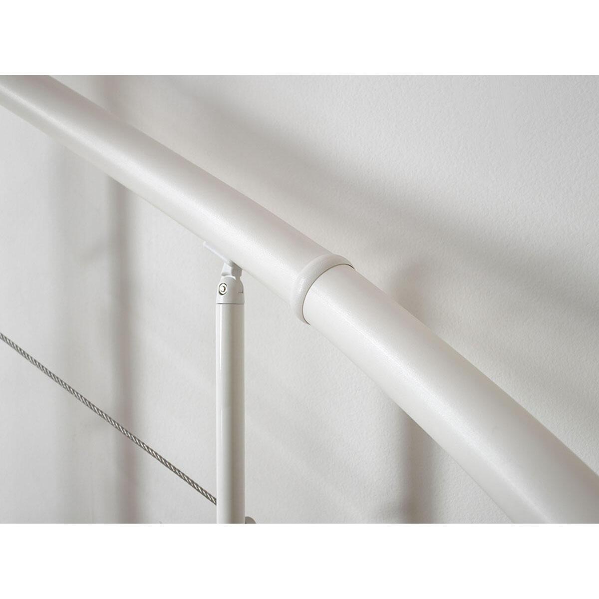 Scala a chiocciola tonda Symphonie FONTANOT L 120 cm, gradino noce, struttura bianco - 9