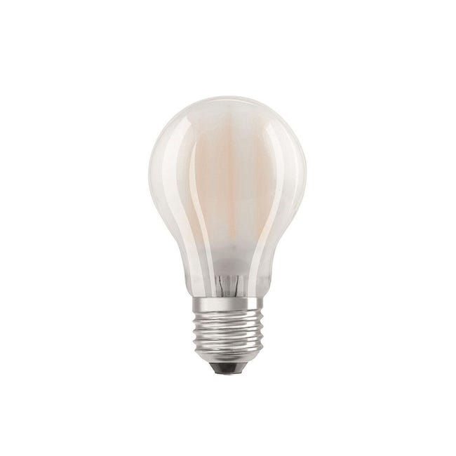 Set di 2 lampadine LED filamento, E27, Goccia, Opaco, Luce calda, 7W=806LM (equiv 60 W), 300° , OSRAM - 1