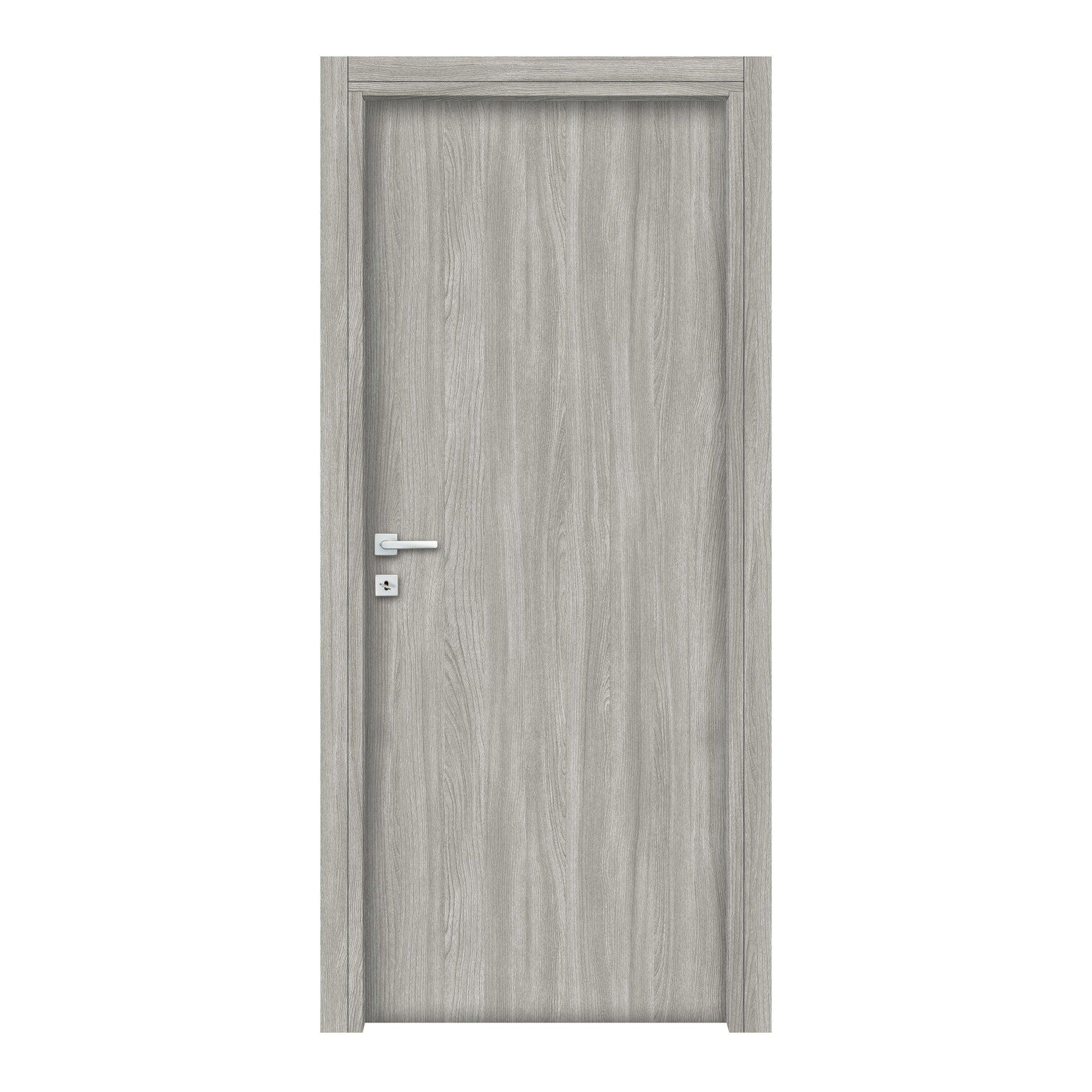 Porta a battente Braque grigio L 80 x H 210 cm reversibile - 2