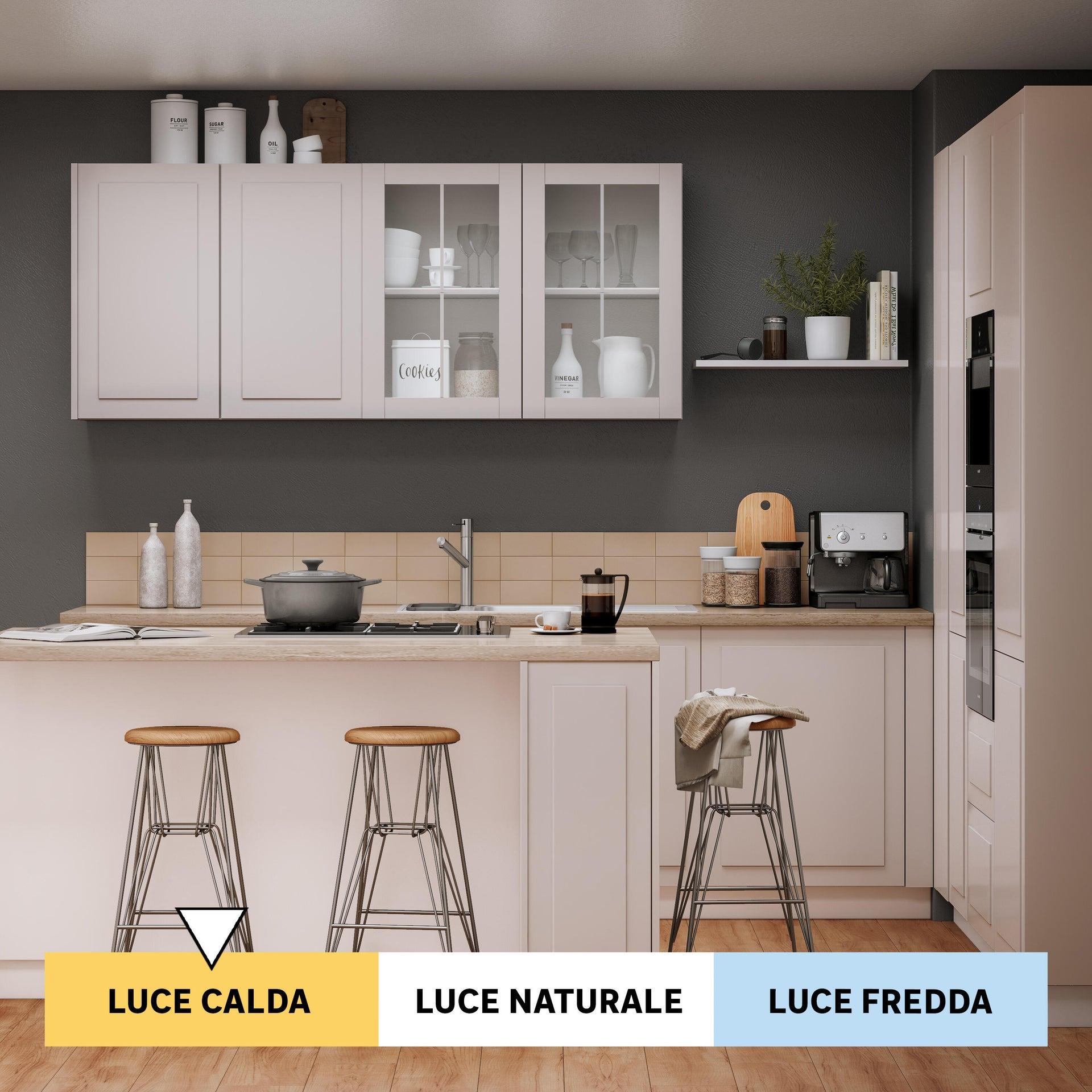 Lampadina smart lighting LED filamento, E27, Goccia, Fumé, Luce calda, 7W=600LM (equiv 7 W), 360° - 2