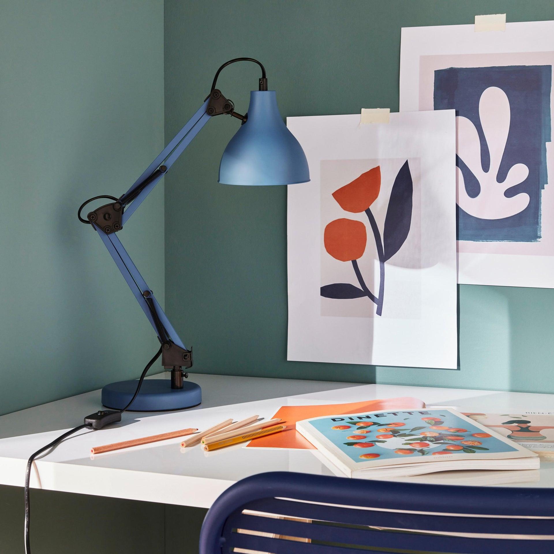 Lampada da scrivania Pop Ennis blu , in metallo, INSPIRE - 1