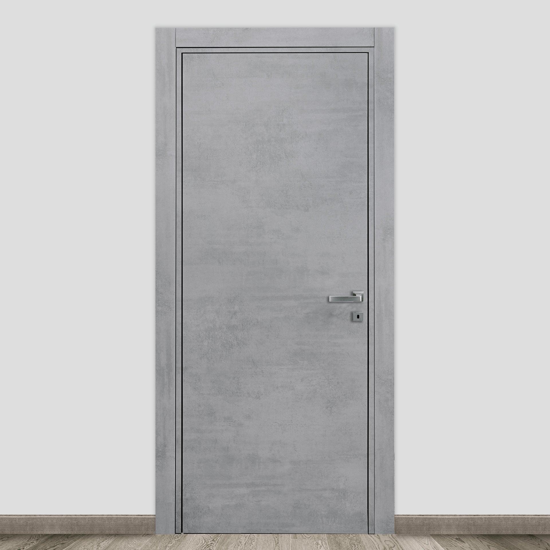 Porta a battente Naos cemento L 70 x H 210 cm reversibile - 1