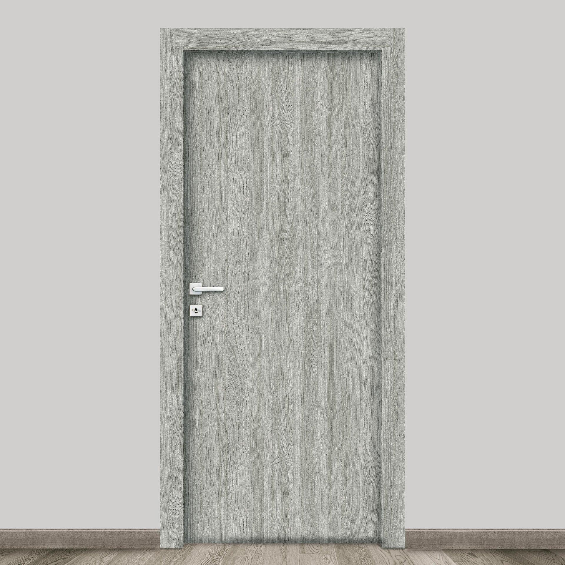 Porta a battente Braque grigio L 80 x H 210 cm reversibile - 4