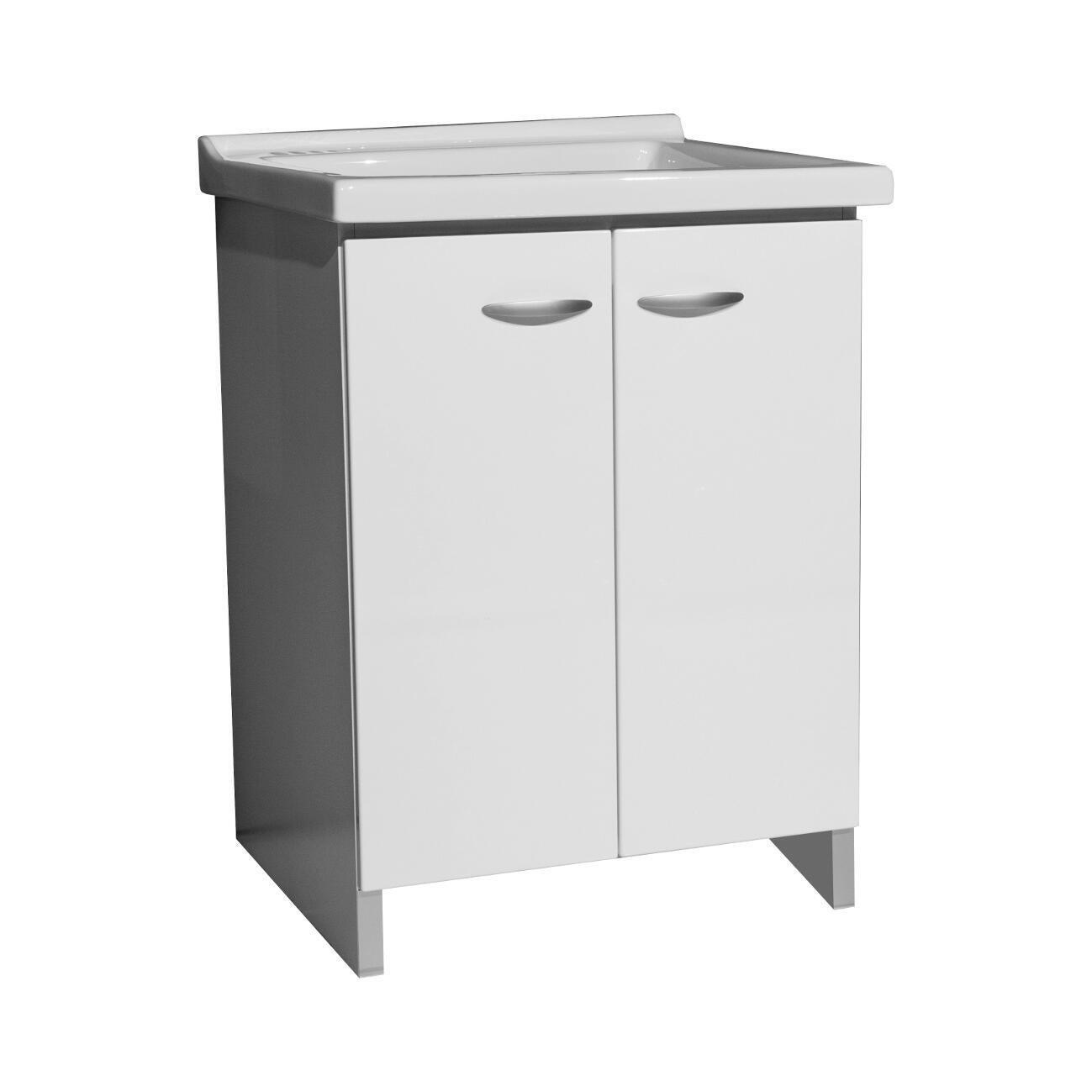 Mobile lavanderia Premium bianco L 63 x P 50 x H 87 cm