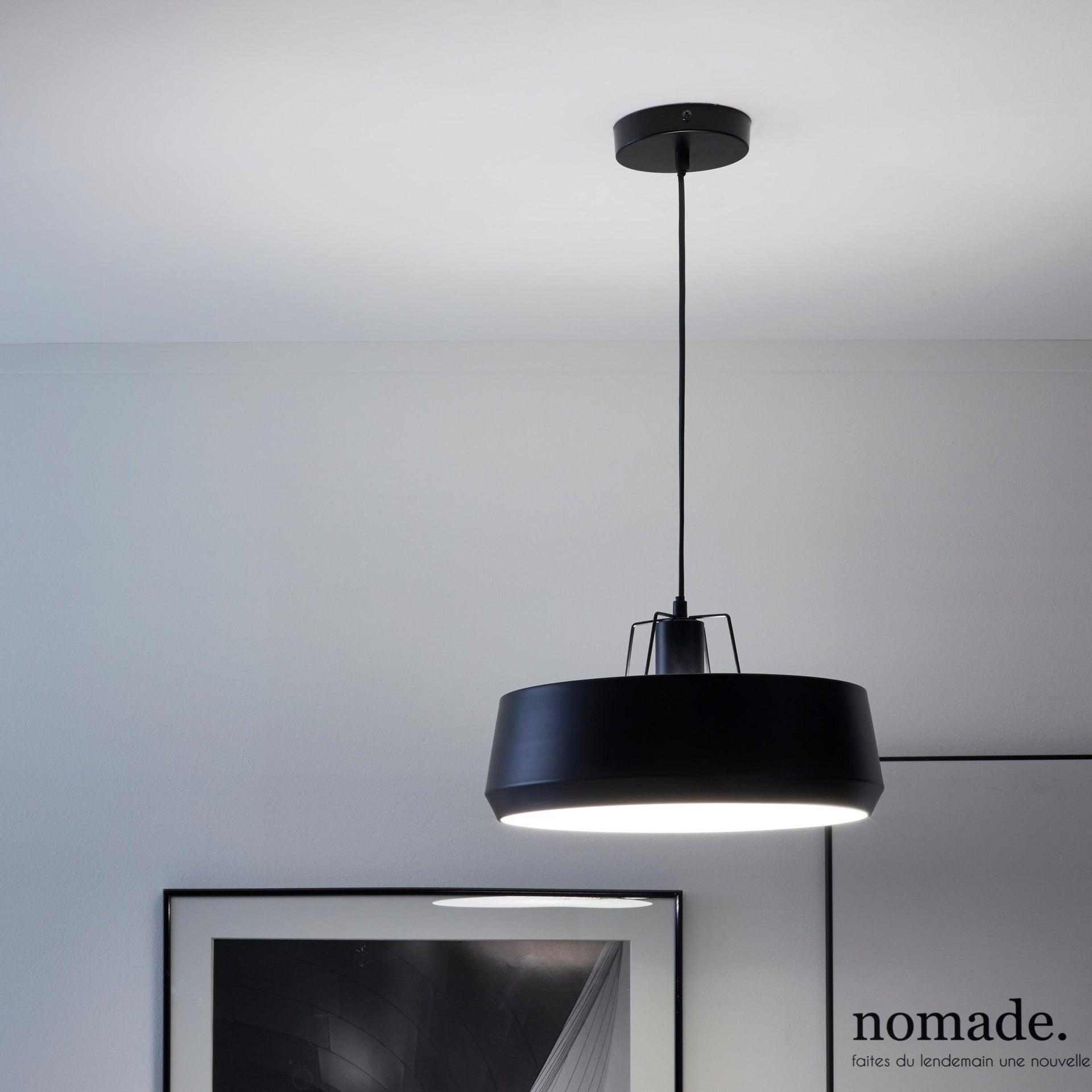 Lampadario Industriale Glint nero in metallo, D. 35 cm, L. 32 cm, INSPIRE - 3
