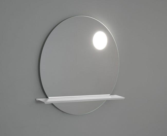 Specchio Con Illuminazione Integrata Bagno Tondo Point L 90 X H 90 Cm Leroy Merlin