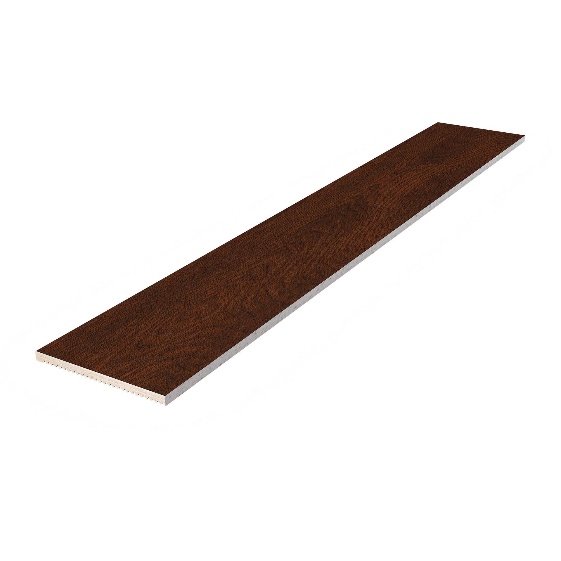 Coprifilo in legno  noce L 3000 x P 30 x H 40 mm