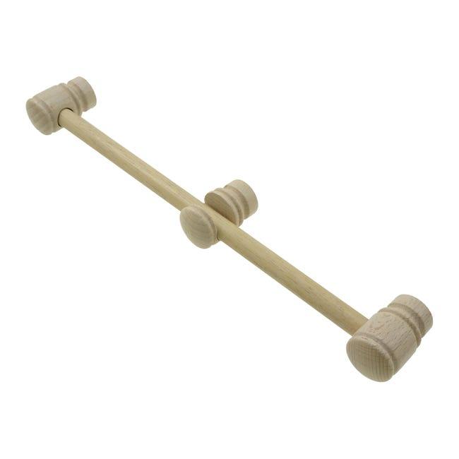 Kit bastone per tenda Zip in legno Ø 11 mm naturale grezzo 120 cm - 1