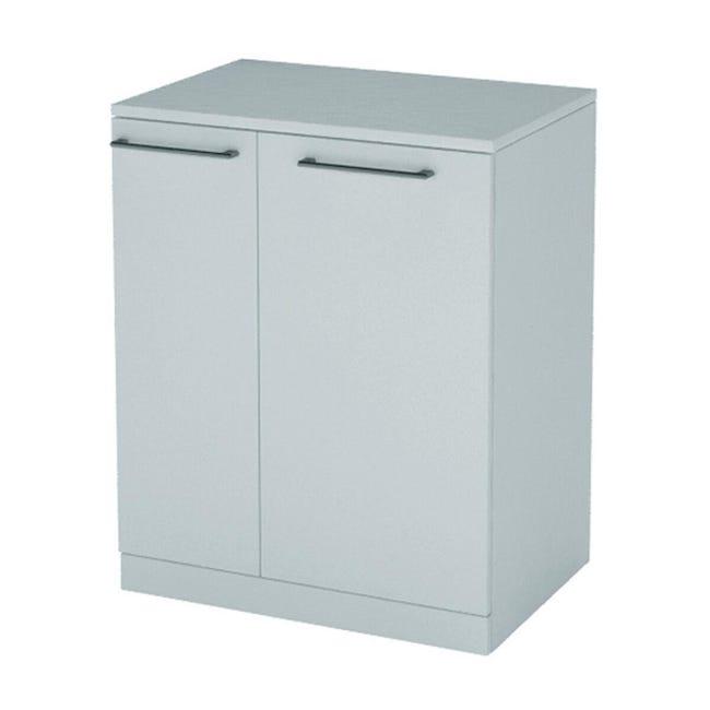Mobile lavanderia Per lavatrice bianco rivestito L 75 x P 72 x H 93 cm - 1
