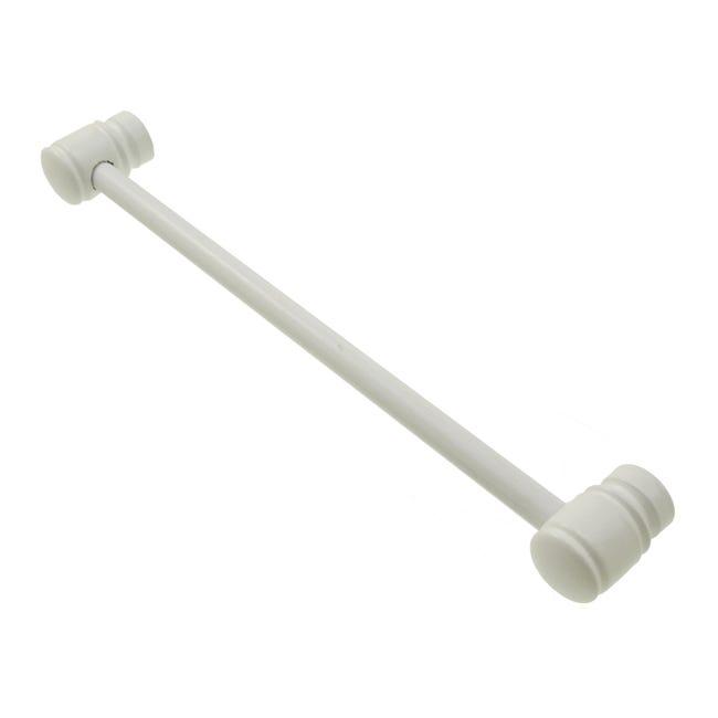 Kit bastone per tenda Zip in legno Ø 11 mm bianco laccato 80 cm - 1