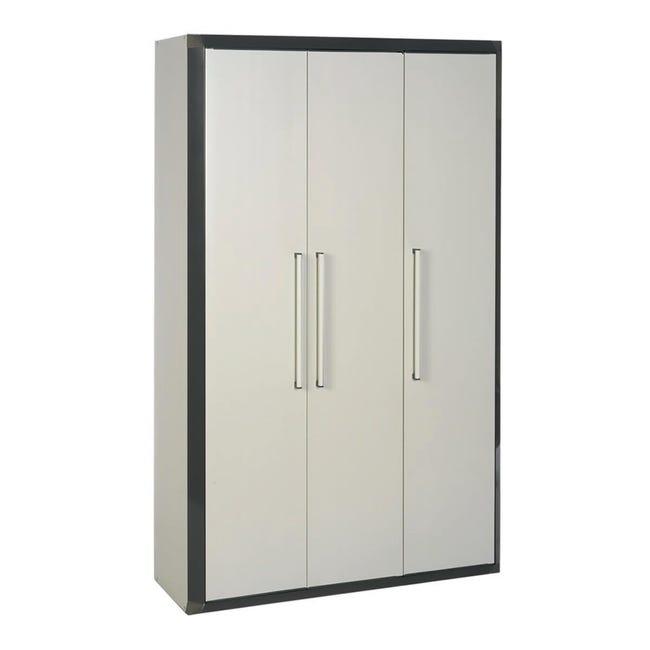 Armadietto alto Thetris Eco L 102 x P 40 x H 169 cm grigio chiaro e grigio antracite - 1