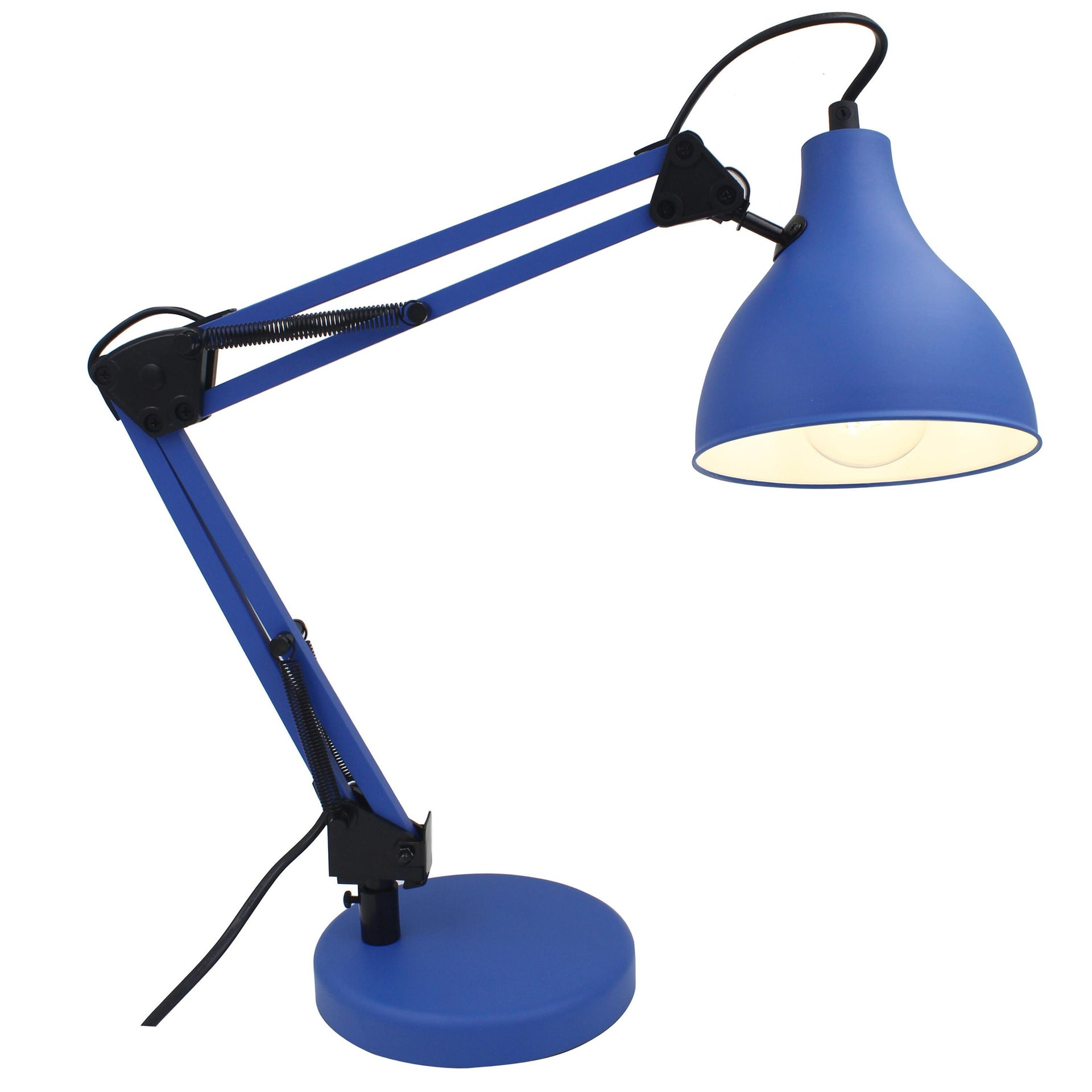 Lampada da scrivania Pop Ennis blu , in metallo, INSPIRE - 9