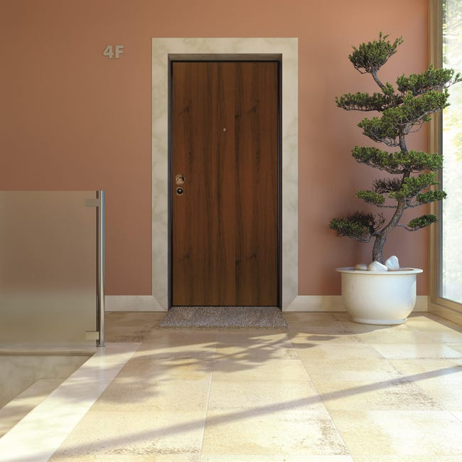 Porta blindata Blocked marrone L 90 x H 210 cm destra - 1