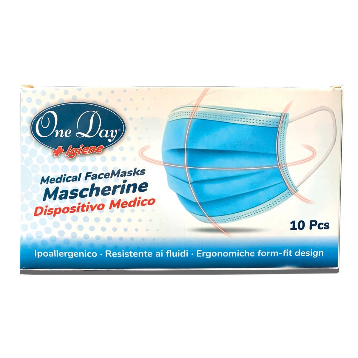 Mascherina igienica Kit One Day 10 mascherine+4 flaconi gel 10 pezzi - 4