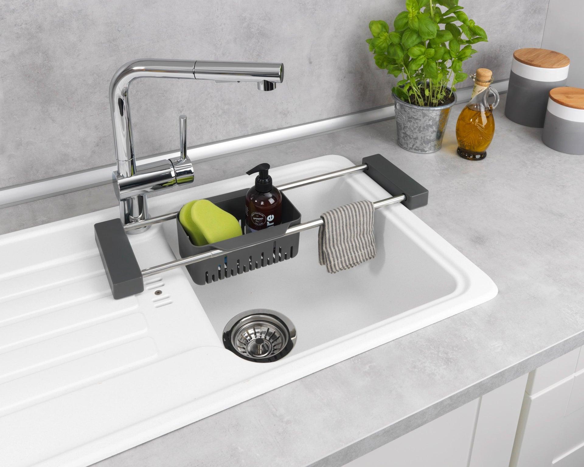 Vaschetta portaoggetti per lavello Cami per lavello grigio L 77.5 x P 14 x H 8 cm - 2