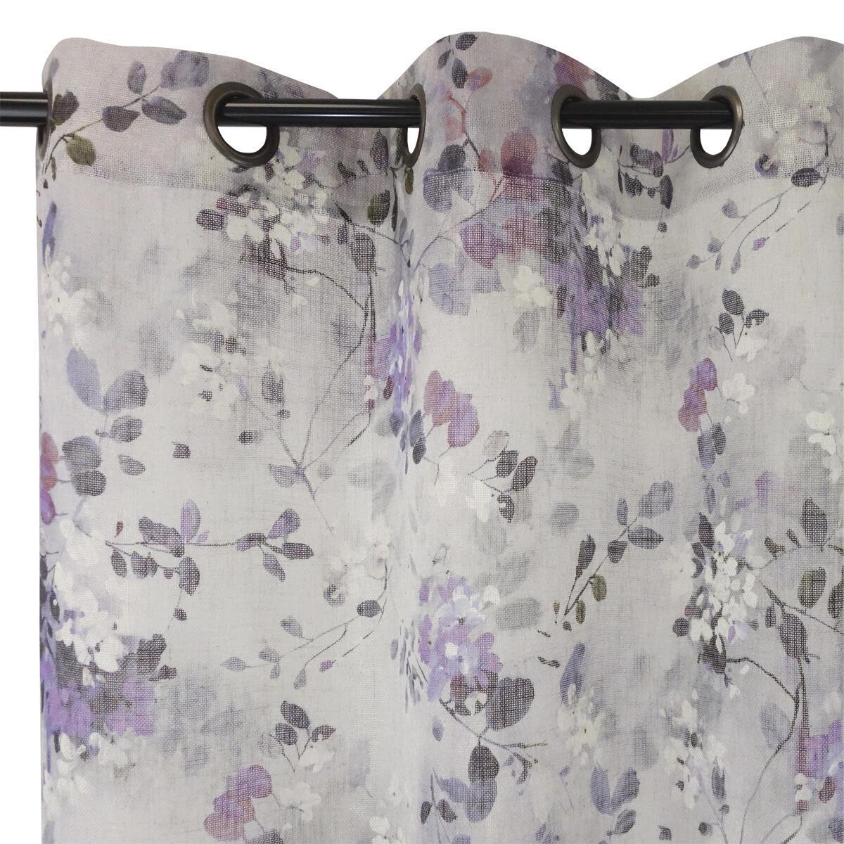 Tenda Romane viola occhielli 140 x 280 cm - 3