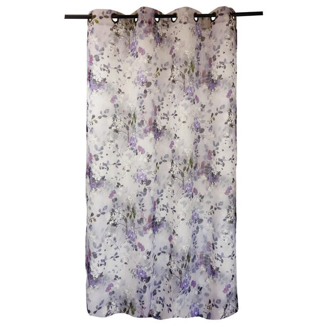 Tenda Romane viola occhielli 140 x 280 cm - 1
