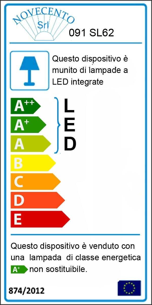 Lampadario Moderno KILEY LED integrato silver, in alluminio, L. 54 cm - 2