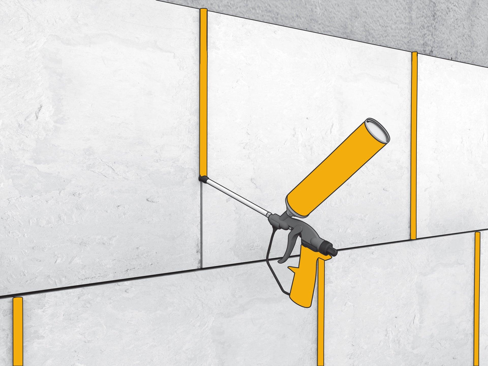 Schiuma poliuretanica SIKA SikaBond FoamFix+ giallo 300 ml - 2