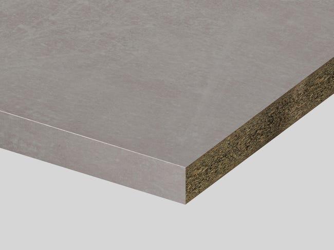 Piano di lavoro in truciolato laminato pietra kombi L 250 x P 60 cm, spessore 3.9 cm - 1