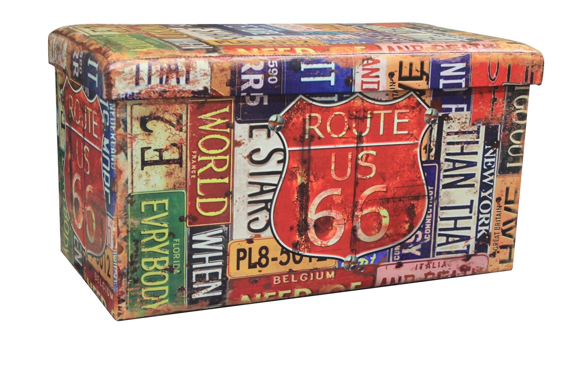 Baule New route L 76 x H 6 x P 40 cm Multicolore