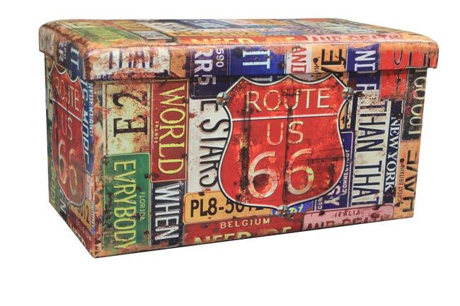 Baule New route L 76 x H 6 x P 40 cm Multicolore - 1