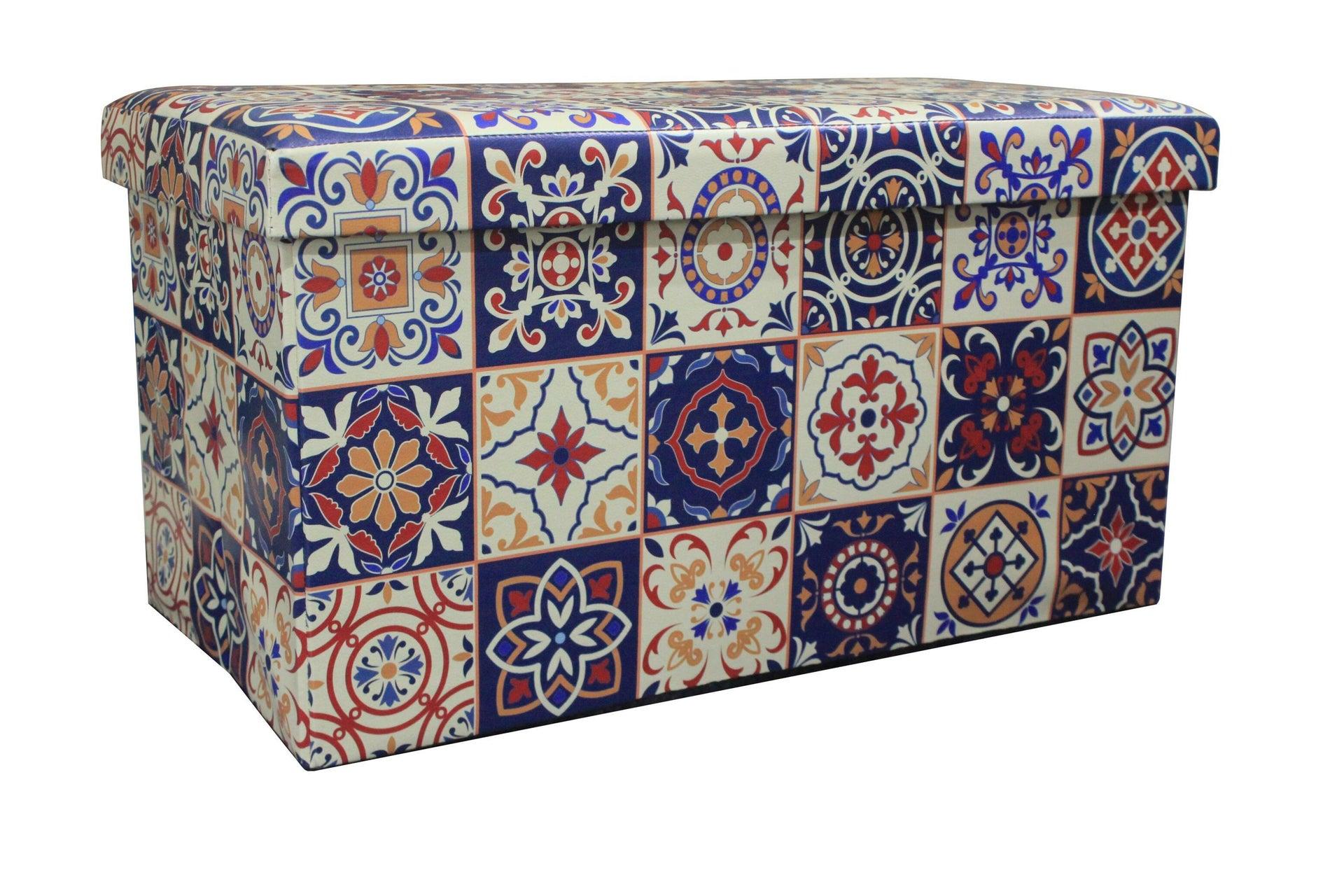 Baule Azulejos L 76 x H 6 x P 40 cm Multicolore
