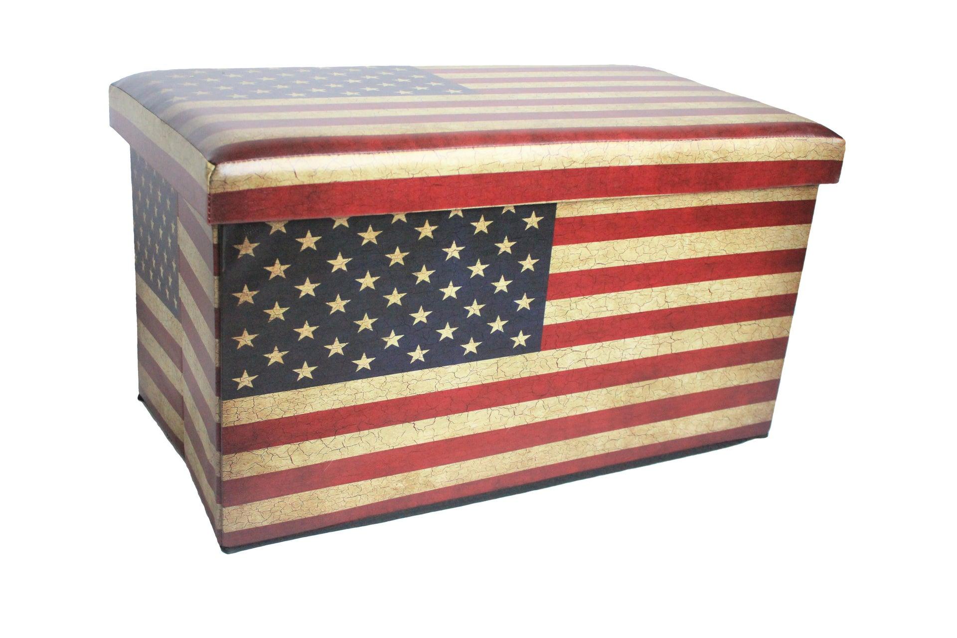 Baule Us flag L 76 x H 40 x P 40 cm Multicolore