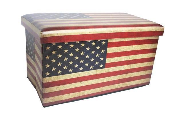 Baule Us flag L 76 x H 40 x P 40 cm Multicolore - 1