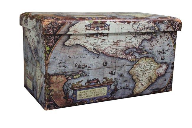 Baule Map L 76 x H 6 x P 40 cm Multicolore - 1
