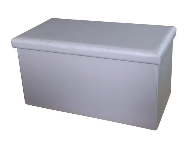 Baule L 77 x H 5 x P 40 cm Grigio - 1