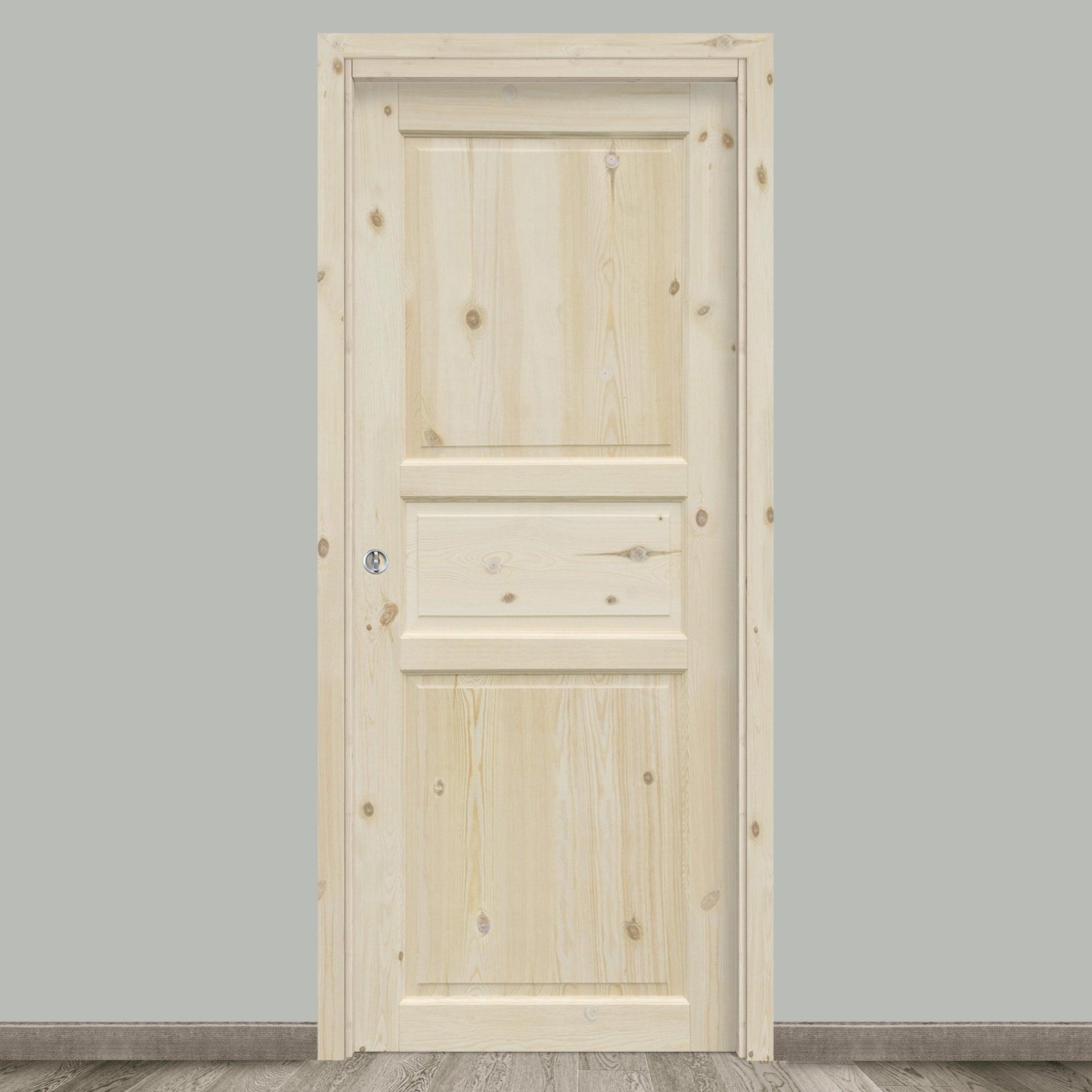 Porta scorrevole a scomparsa Acul naturale L 70 x H 210 cm reversibile - 1