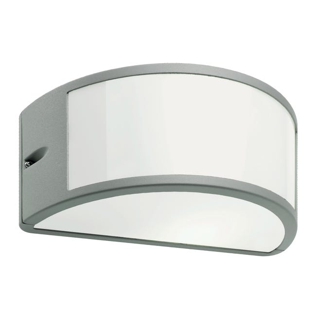 Applique Umbe in alluminio, bianco e grigio, E27 MAX60W IP54 - 1