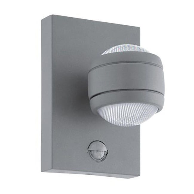Applique Sesimba LED integrato in inox, grigio, 3.7W 560LM IP44 EGLO - 1